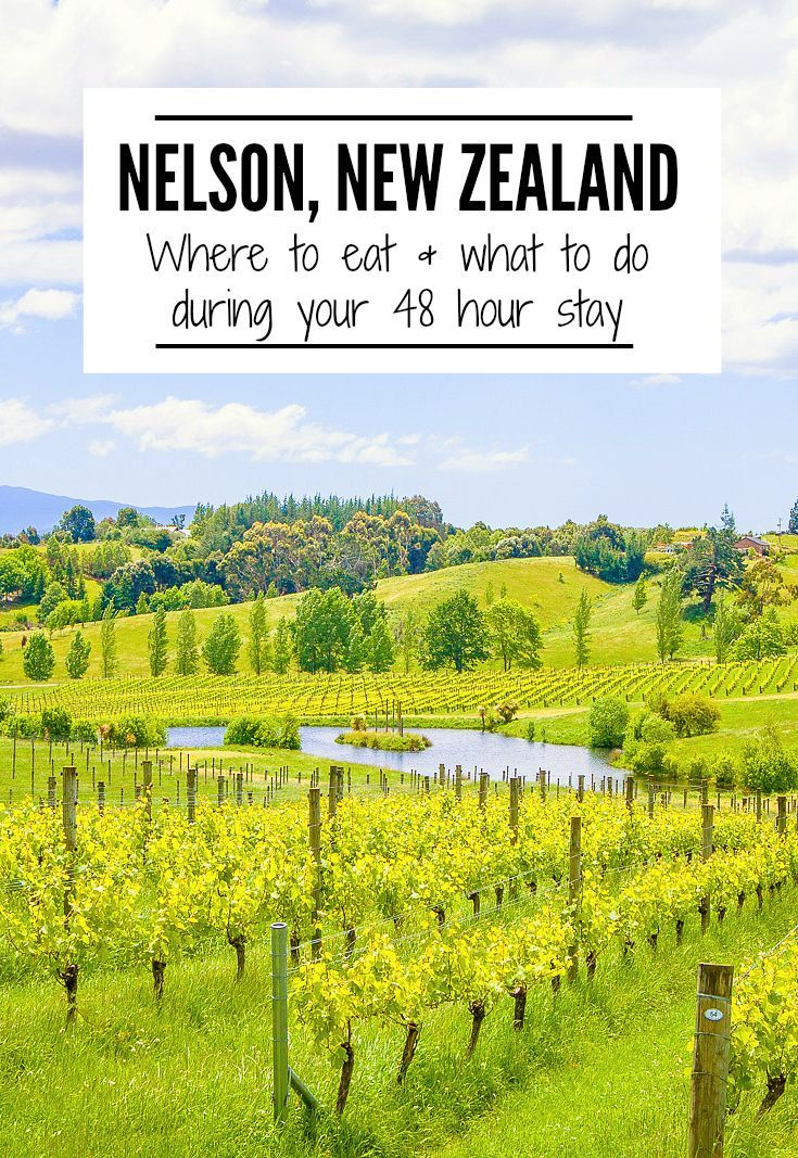 Don't miss a visit to Nelson during your New Zealand visit! This charming town has easy access to wineries, beaches and the stunning Abel Tasman National Park. Check out these tips for 48 hours in Nelson, NZ. | www.eatworktravel.com - The luxury, adventur