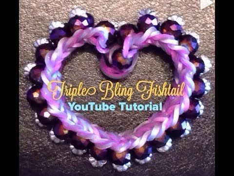 how to make a triple fishtail bracelet with your fingers
