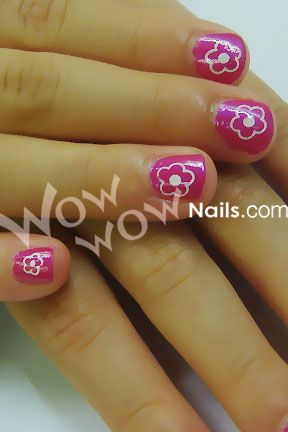 Charming Little Girl Nails | ... And Families, This Is A Very Simple Design