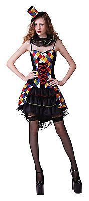 Ladies sexy #clown fancy dress costume #womens harley quinn #halloween uk 10-14,  View more on the LINK: 	http://www.zeppy.io/product/gb/2/271892373918/