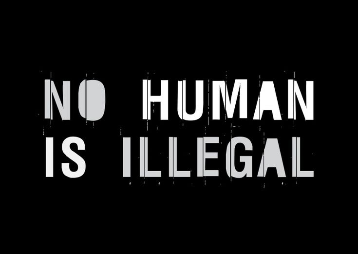 NO HUMAN IS ILLEGAL | DEMOCRACY DELIVERED | Send real postcards online | MyPostcard.com