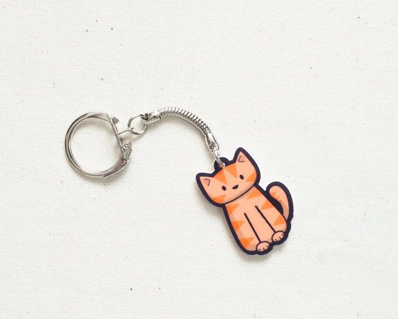 Orange Cat Keyring