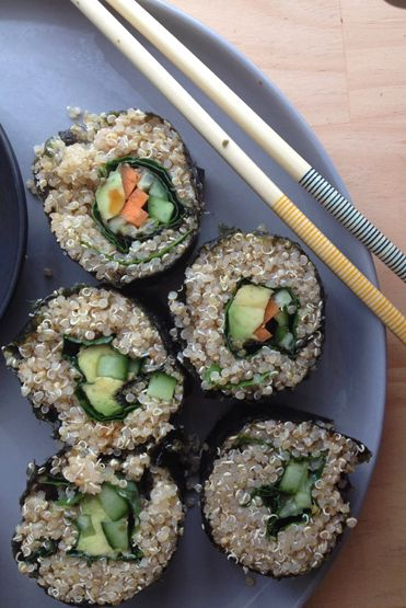 Vegan Quinoa Sushi -  AMAZING idea!