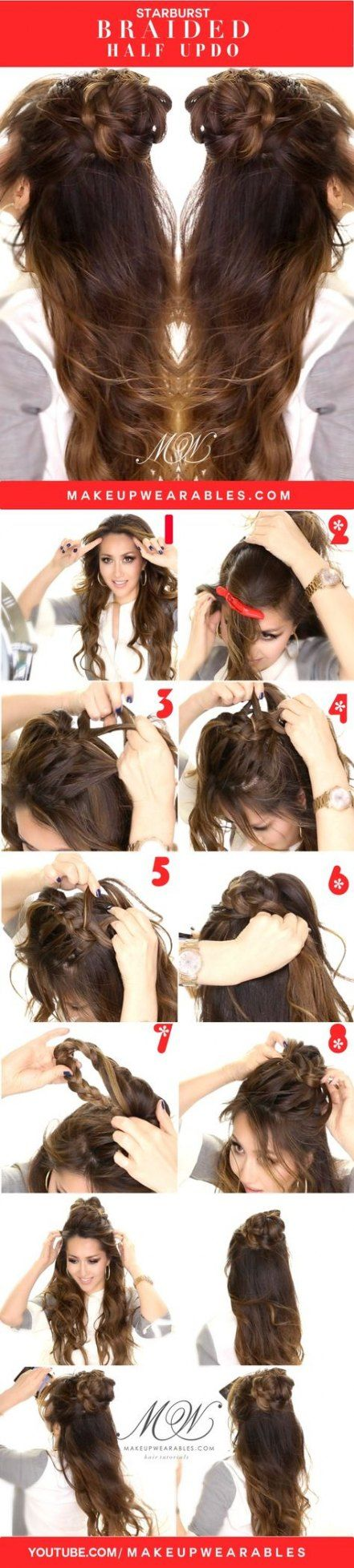 Bridal Hairstyles Half Up Half Down Braid Easy Diy 59+  Ideas