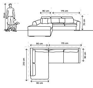 Sala esquinera yucatan beige sillones y sof s for Crear una sala de estar rectangular
