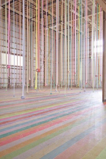 masking tape art installations