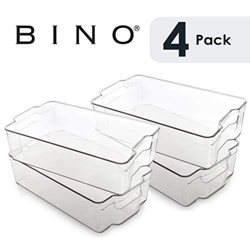 Bino Stackable Plastic Organizer Storage Bins X Large 4 Pack