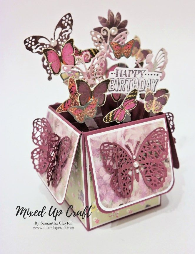 Butterfly Pop Up Box Card Box Cards Tutorial Pop Up Box Cards Card Box
