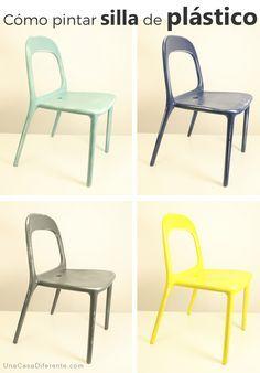 Como pintar sillas de plastico ikea hacks
