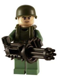 Modern Army - Minigunner - Custom Lego Figure