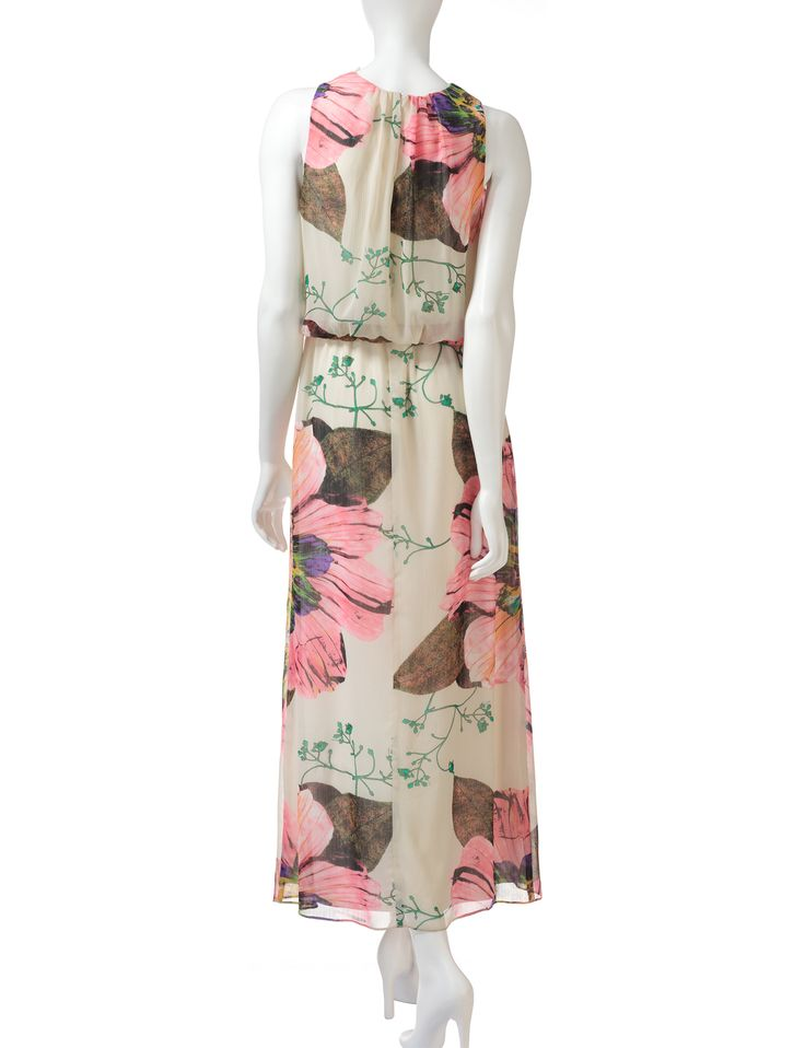 R & M Richards Floral Chiffon Maxi Dress – Misses | Stage Stores