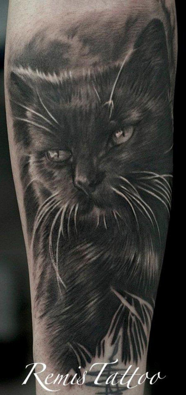 cat tattoo - 55 Examples of Cute Cat Tattoo | Art and Design