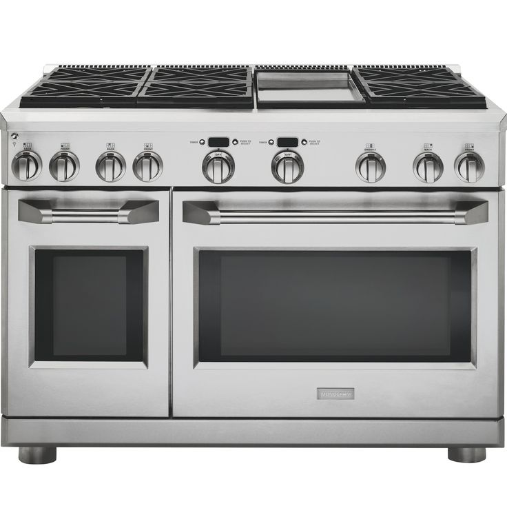 "ZGP486NDRSS - Monogram® 48"" All Gas Professional Range with 6 Burners and Griddle (Natural Gas) - The Monogram Collection"