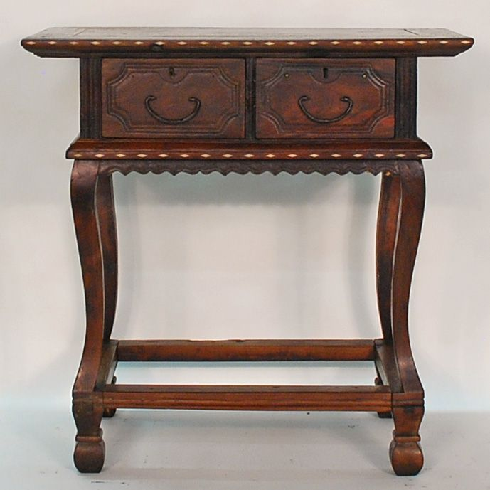 Antique Asian Furniture: Philippines Antique Altar Mesa Table With Bone  Inlay From Cagayan Province,