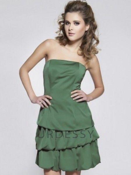 Charming Short Strapless Taffeta Sage Green Bridesmaids Dresses, get it here: http://www.urdessy.co.uk/charming-short-strapless-taffeta-jade-bridesmaids-dresses-colchester