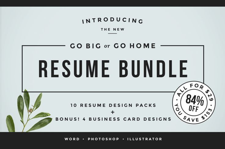 Go Big or Go Home! The Resume Bundle awesome http://psdshare.com/go-big-or-go-home-the-resume-bundle/    #Photoshop #Resume #Stationery