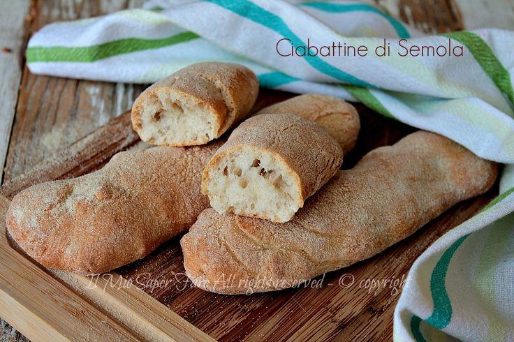 Ciabattine semola pane croccante e soffice