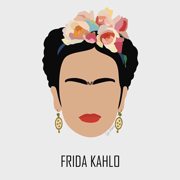 Frida Kahlo on Behance Stone Painting, Body Painting, Starbucks Art, Kahlo Paintings, Frida Art, Free Stencils, Draw On Photos, Diy Arts And Crafts, Grafik Design