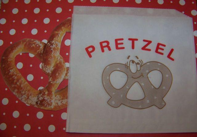 Pretzel Bags Cute Vintage Graphics 15 Bags With Cute Smiling Pretzel Graphics! | eBay