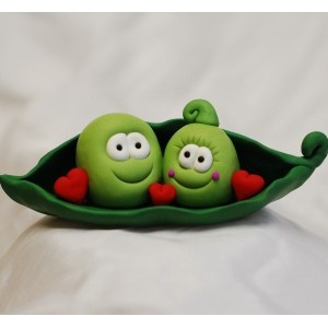 Two peas in a pod cake topper