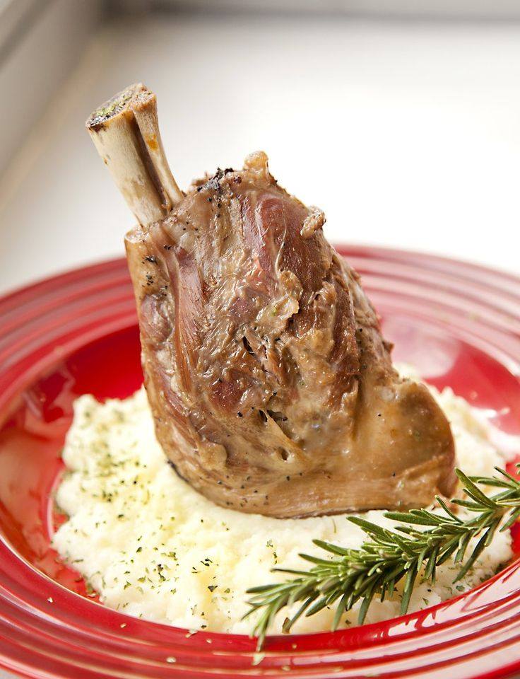 Braised Lamb Shanks with a Garlic Potato Puree