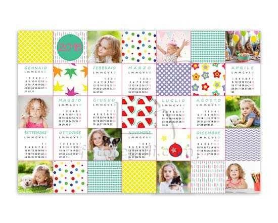 calendario poster con foto