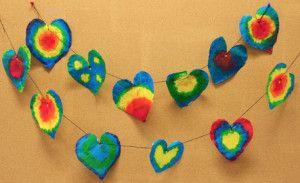 Tie Dye Heart Garland