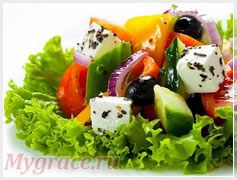 Калорийность греческого салата 100 гр