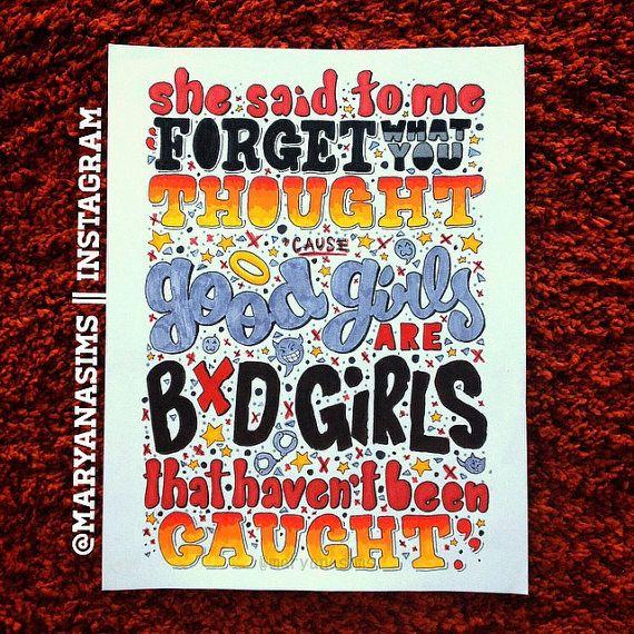 Good Girls by 5sos Lyric Drawing