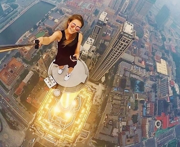 Beautiful Russian daredevil girl takes the most dangerous selfies. She is just a crazy traveller.Angela Nikolau is a Russian traveller who likes to take the most dangerous selfies. She learned photography by herself and she is always looking for dangerous spots to take selfies.  This beautiful Russian daredevil can be seen taking selfies from the edge of skyscrapers and she seems perfectly relaxed.  The embarrassing thing is that she doesn't care about the height and risks associated with…