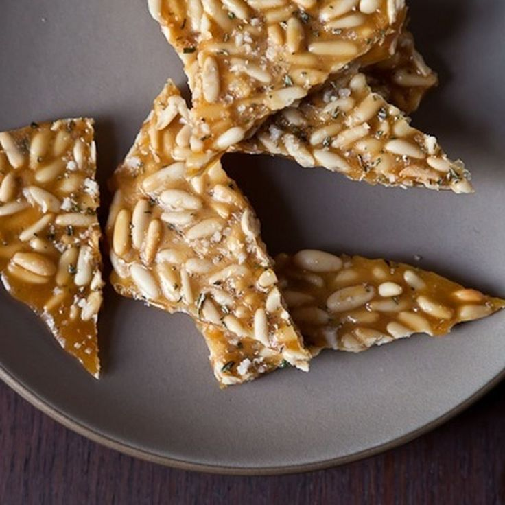 Pine Nut Brittle with Rosemary recipe on Food52