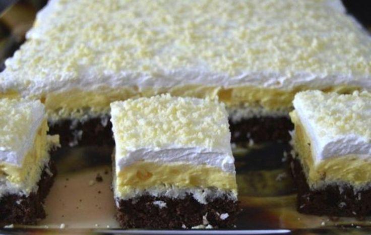 """Ingrediente pentru prajitura """"Floare de colt"""" Pentru blat cacao: 6 oua, 4 lg faina, 3 lg cacao, 6 lg zahar, 1 lgt praf de copt, un praf de sare Pentru bezea cocos: 4 albusuri, 6 lg zahar,"""