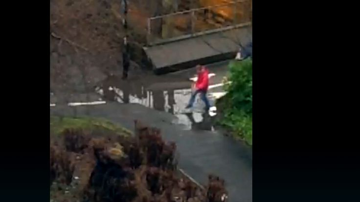 Thousands of people are watching the live video of a puddle in Newcastle.