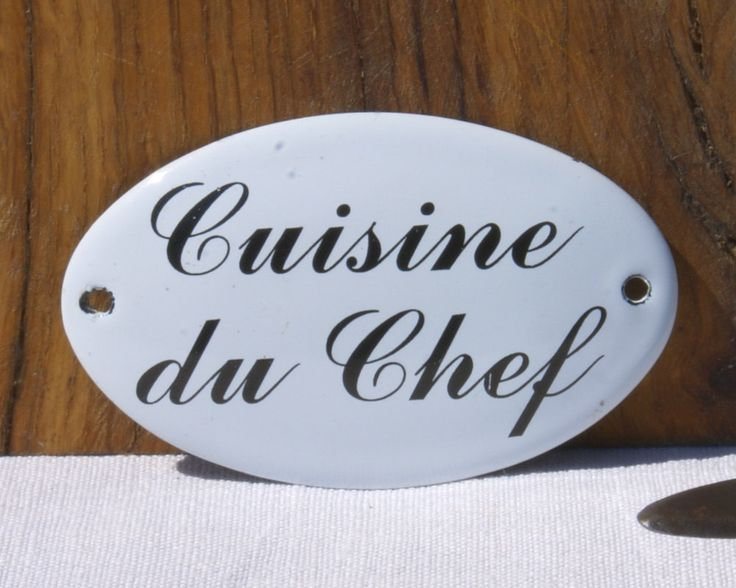 Cuisine du Chef Enamel Sign - Vintage French by UneChoseFrancaise on Etsy