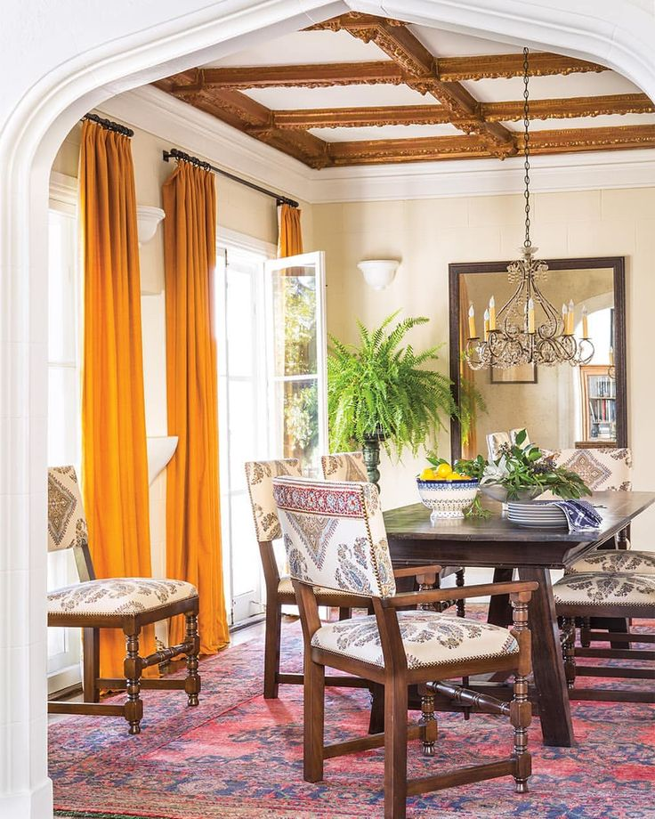 """Peter Dunham Textiles on Instagram """"This dining room by"""