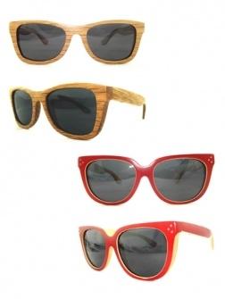 Ga deze zomer voor een échte eyecatcher en zet een houten zonnebril op je neus. Gegarandeerd een succes.