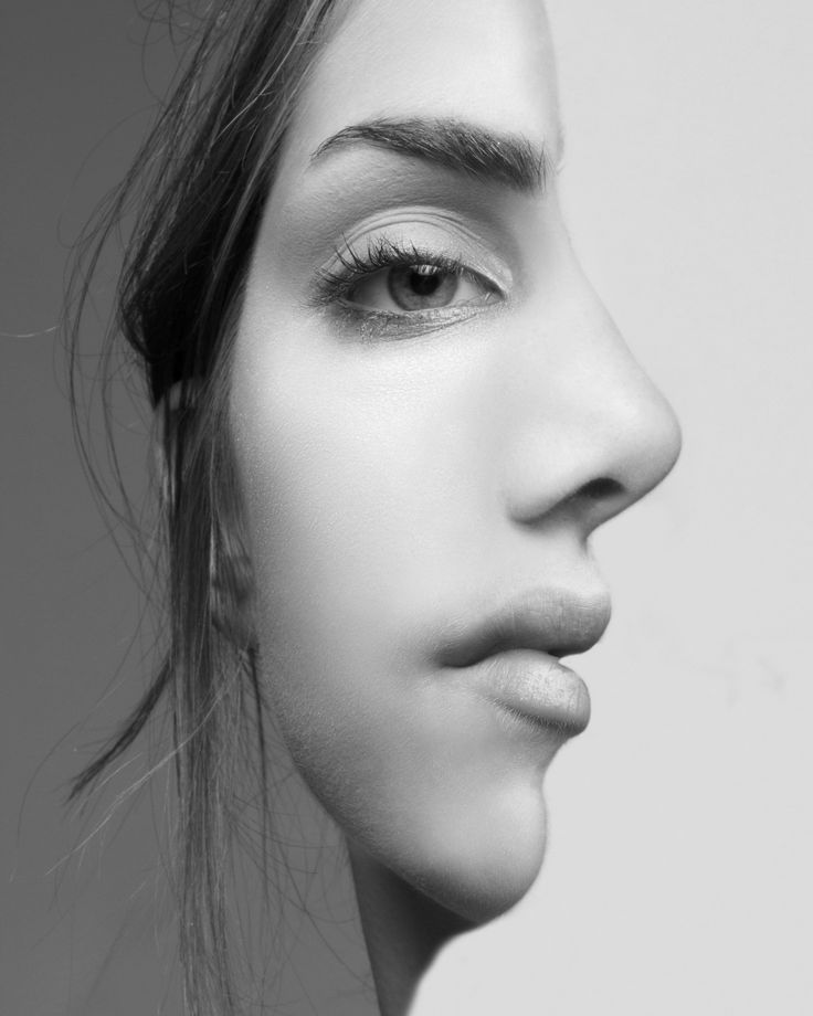 Illusion photography in black and white