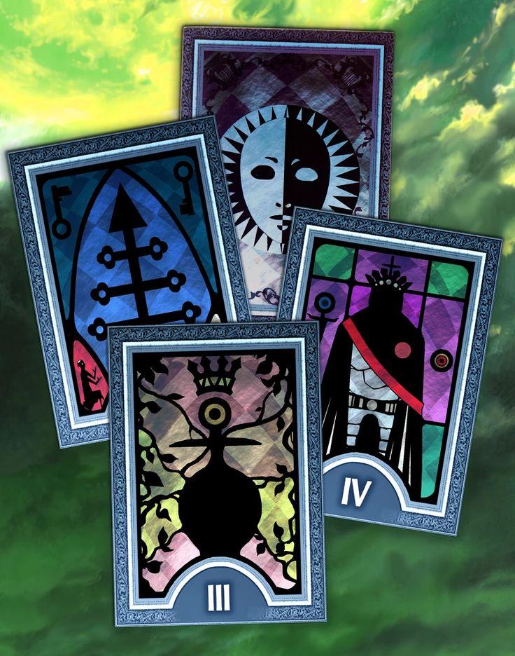 Persona 3 arcana tarot card coaster set series 2