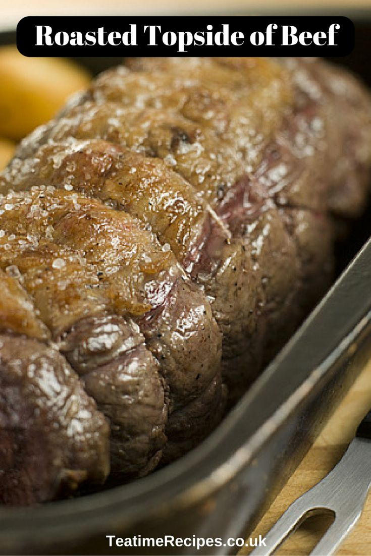 Beef topside is a tasty, lean cut of beef which you can oven-roast until succulent, juicy and mouth-watering. This is flavoured simply with olive oil, salt and pepper.