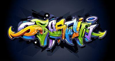 Wektor: Bright graffiti lettering