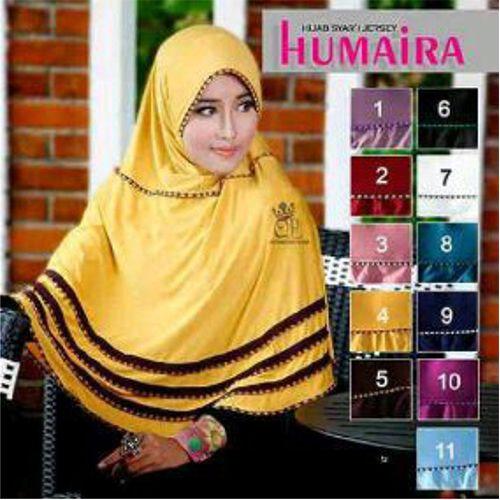 Hijab/Jilbab Syar'i Humaira  Bahan : jersey balon Ket : panjang sesuai foto