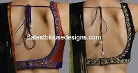 Low Back Neck Blouse Designs