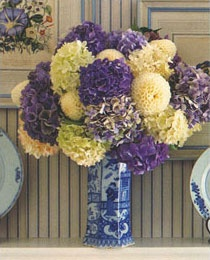 Carolyne Roehm Delft Blues: Blue Hydrangea, Floral Design, Hydrangeas Drink, Hydrangeas Hydrangeas, Hydrate Hydrangeas, Delft Blue, Garden, Hydrangeas Exploding Colors, Blue And White