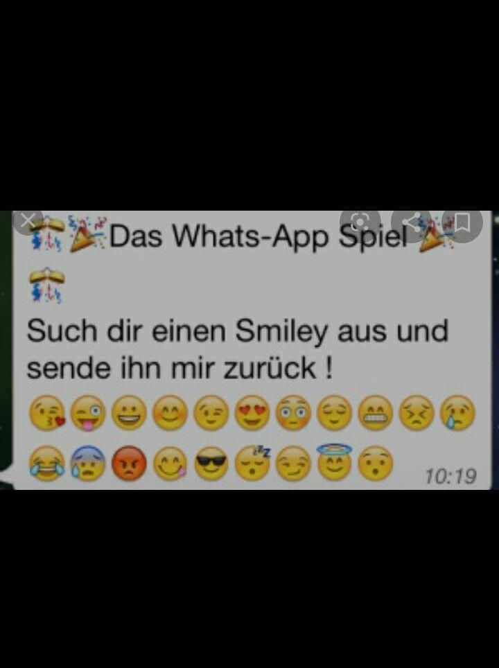 Whatsapp spiel smileys