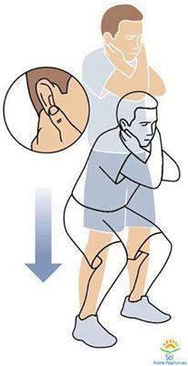 Chcete byť počas dňa bystrejší? Chyťte si ušné lalôčiky so skríženými rukami na prsiach a robte pri tom podrepy. V Indii bol tento cvik  trestom učiteľa pre slabých žiakov. Tento postoj zvyšuje prietok krvi v pamäťových bunkách mozgu, vplýva na synchronizáciu fungovania pravej a ľavej strany mozgu, vplýva na upokojenie a zároveň stimuluje akupresúrne body na ušnom lalôčiku, ktoré pomáhajú byž bystrejším. Cvik zároveň napomáha pri Autizme, poruchách učenia a iných problémoch so správaním.