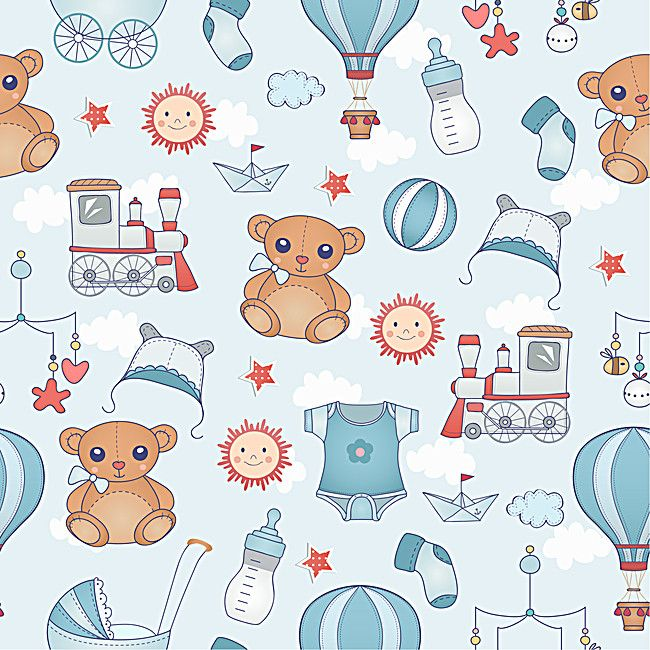 Cartoon Snowman Pattern Cute Background Baby Scrapbook Paper Baby Elephant Drawing Baby Prints