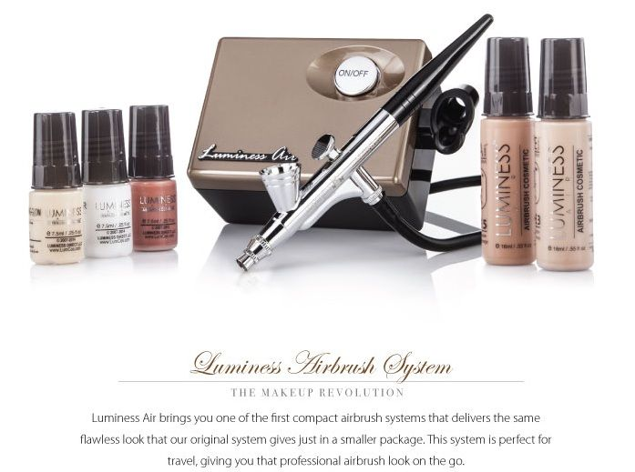 Luminess Air Cosmetic Airbrush System | Makeup System Luminess Air manufactures the best airbrush makeup system on the market. A revolutionary design that allows a smooth, professional finish, airbrushing alleviates the need for expensive powders and foundations.