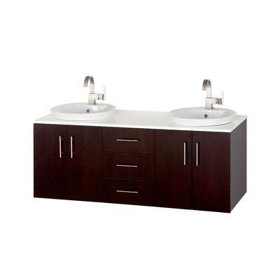 Picture Collection Website Wyndham Collection Arrano Double Bathroom Vanity Set with Mirror