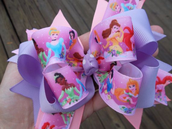 Lavender Princess Boutique Bow Birthday Bows for Girls by ransomletterhandmade, $10.00
