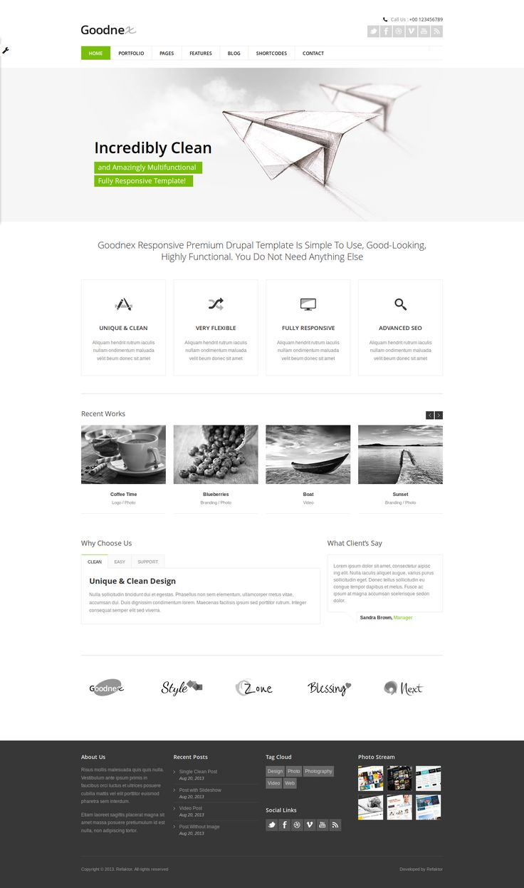 Goodnex Responsive Drupal 7 Theme by ~Experthemes on deviantART